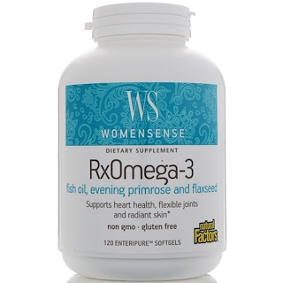 Natural Factors, WomenSense, ,RxOmega-3,120 粒软胶囊