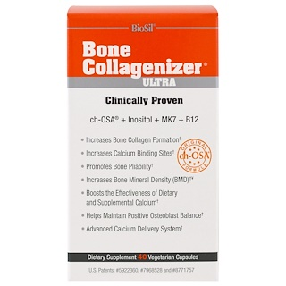 Natural Factors, BioSil,Bone Collagenizer Matrix素食胶囊,40粒