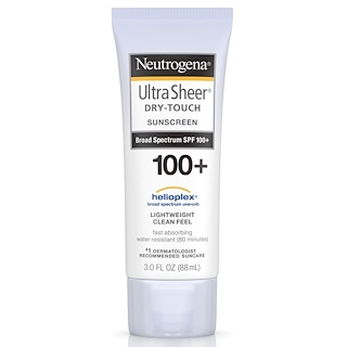 Neutrogena, Ultra Sheer, 干式防晒霜SPF 100+,3 液盎司(88 毫升)