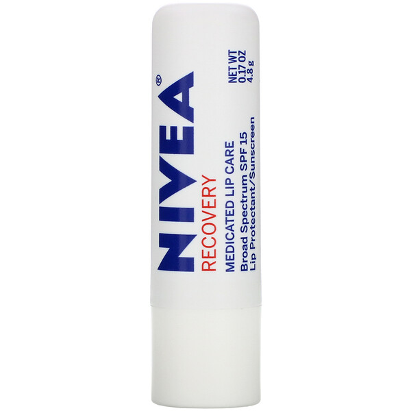 A Kiss of Recovery, Medicated Lip Care, SPF 15, 0.17 oz