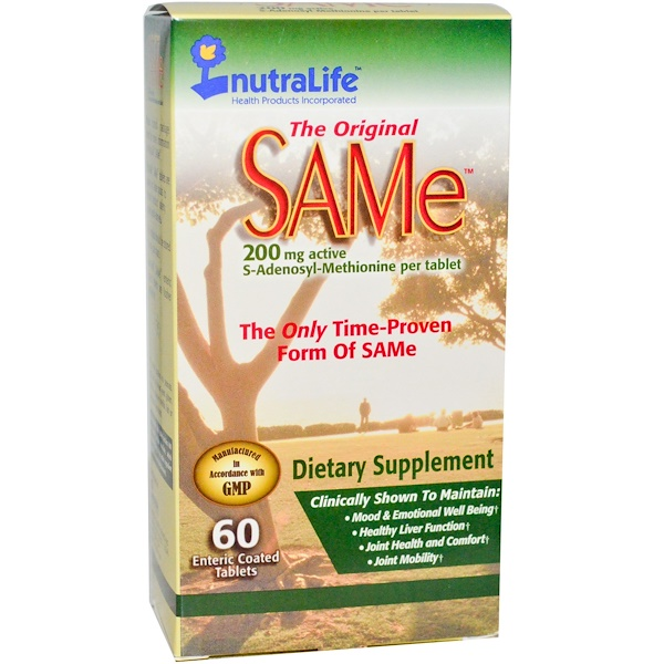 The Original SAMe, 200 mg, 60 Enteric Coated Tablets