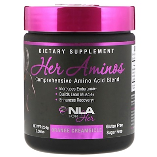 NLA for Her, Her Aminos,完整氨基酸配方,香橙雪糕,0.56磅(254 g)