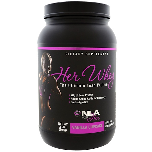 NLA for Her, Her Whey,终极精益蛋白,香草纸杯蛋糕味,2 磅(905 克) (Discontinued Item)