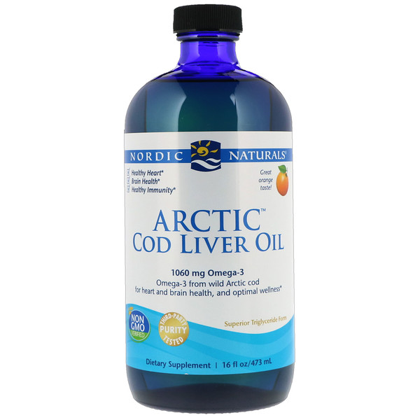 Nordic Naturals, Arctic Cod Liver Oil, Orange, 16 fl oz (437 ml)