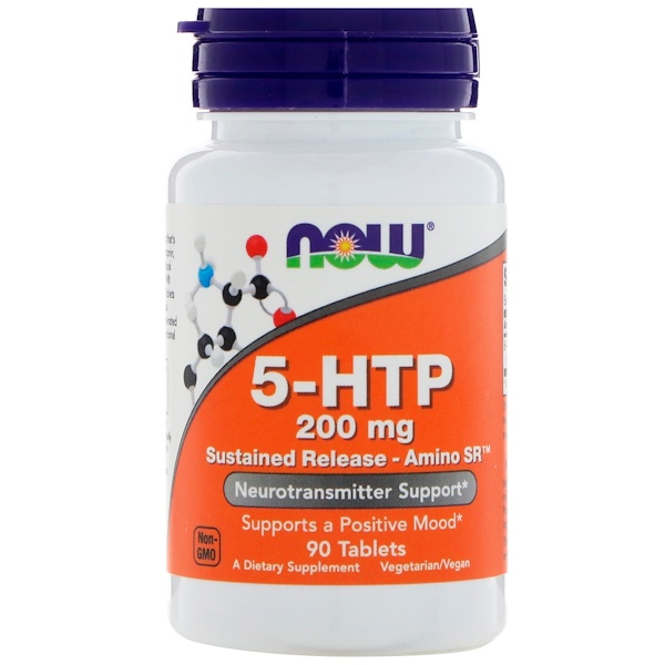 Now Foods, 5-HTP, 缓释 - SR 氨基酸,200 毫克,90 片 (Discontinued Item)