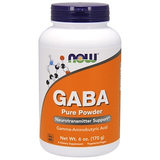 Now Foods, GABA,纯粉,6 oz (170 g)