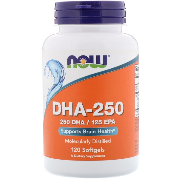Now Foods, DHA-250/EPA-125,120 粒胶囊