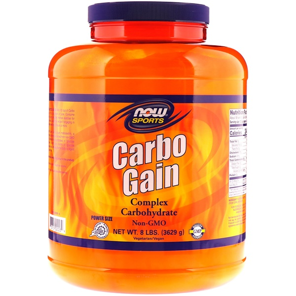 Now Foods, Now Foods, 运动, Carbo Gain, 8 lbs