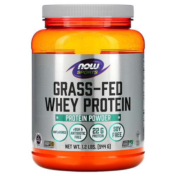 Grass-Fed Whey Protein Concentrate, Unflavored, 1.2 lbs (544 g)