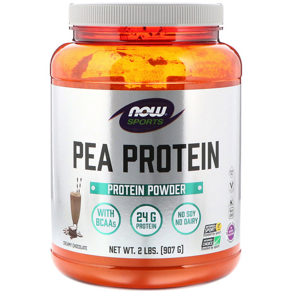 Now Foods, Sports, Pea Protein, Creamy Chocolate, 2 lbs (907 g)
