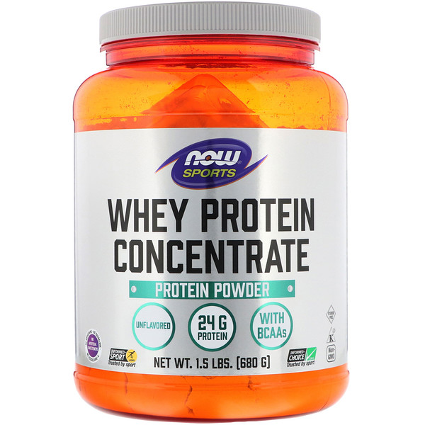 Whey Protein Concentrate, Natural Unflavored, 1.5 lbs