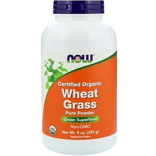 Now Foods, Certified Organic Wheat Grass, 9 oz (255 g)