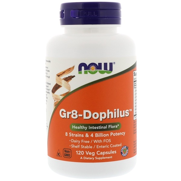 Now Foods, Gr8-Dophilus,120 粒素食胶囊