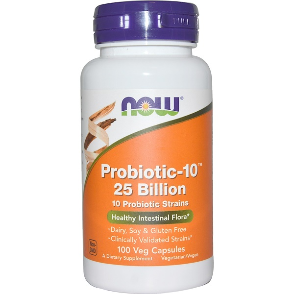 Now Foods, Probiotic-10 250亿, 100 植物胶囊