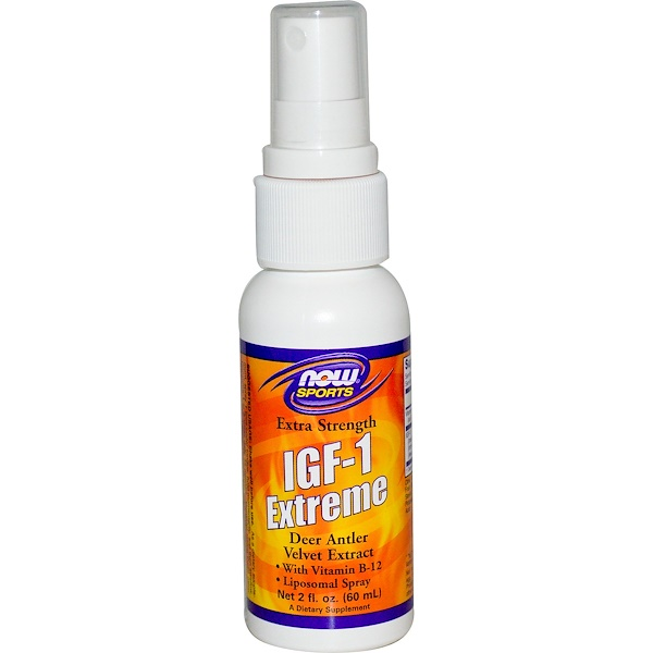 Now Foods, Sports, IGF-1 Extreme, Extra Strength, 2 fl oz (60 ml) (Discontinued Item)