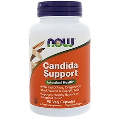 Now Foods, Candida Support,90 粒素食胶囊