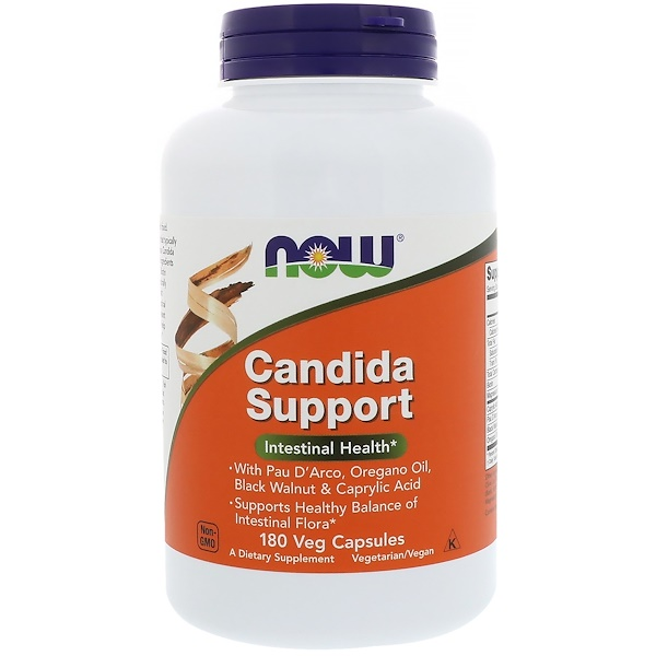 Now Foods, Candida Support,180粒素食胶囊
