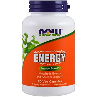 Now Foods, Energy, 90粒素食胶囊