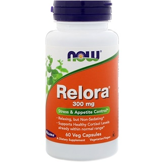 Now Foods, Relora,300 mg,60粒植物胶囊
