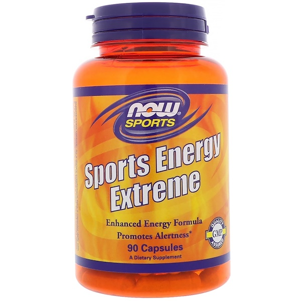 Now Foods, Sports Energy Extreme, 90 Caps