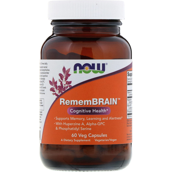 Now Foods, RememBrain, 60 Veg Capsules (Discontinued Item)