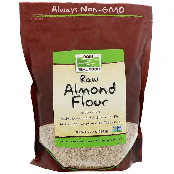 Real Food, Raw Almond Flour, 22 oz (624 g)