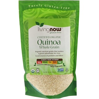 Now Foods, 有机藜麦全谷类 Certified Organic Quinoa, Whole Grain, 16 oz (454 g)