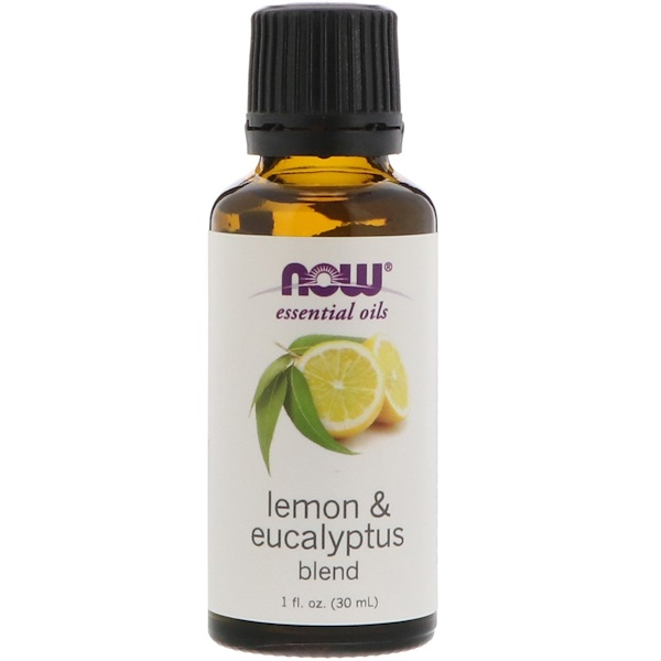 Now Foods, Essential Oils, Lemon & Eucalyptus Blend, 1 fl oz (30 ml)