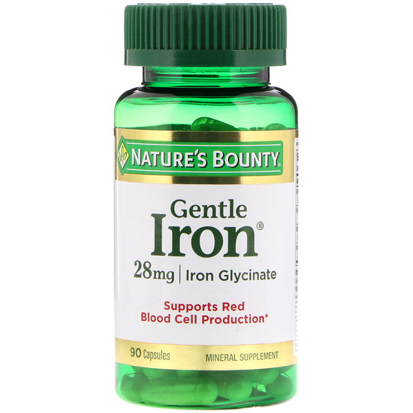 Nature's Bounty, Gentle Iron,28毫克,90粒胶囊