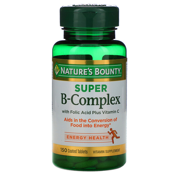 Nature's Bounty, Super B-Complex,含叶酸和维生素C,150片