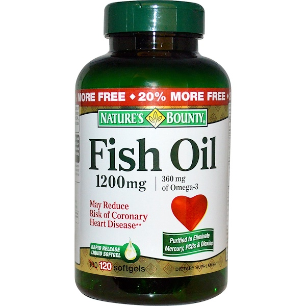 Nature's Bounty, Fish Oil, Omega-3, 1200 mg, 120 Softgels (Discontinued Item)