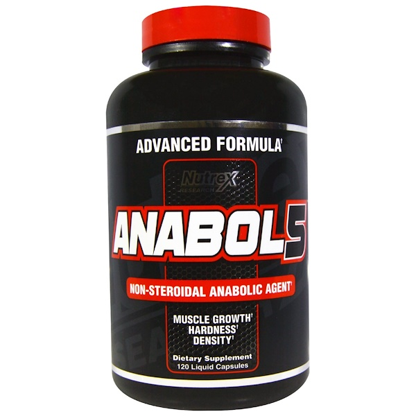 Nutrex Research, Anabol 5,黑色,120粒液体胶囊