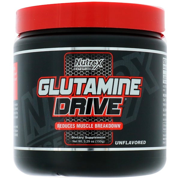 Nutrex Research Labs, Glutamine Drive, Unflavored, 5.29 oz (150 g)