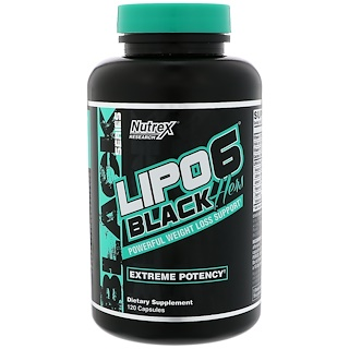 Nutrex Research, Lipo6, Black, Hers, Extreme Potency, 120 Capsules