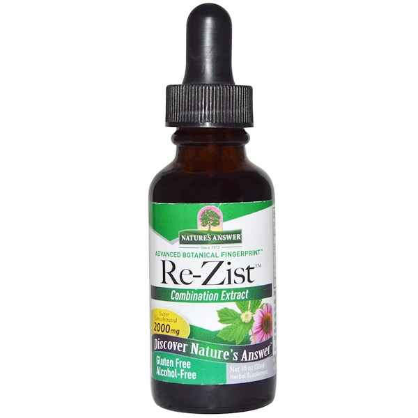 Nature's Answer, Re-Zist, Alcohol-Free, 1 fl oz (30 ml) (Discontinued Item)
