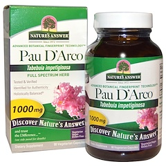 Nature's Answer, Pau D'Arco,1000 毫克,90 粒素胶囊
