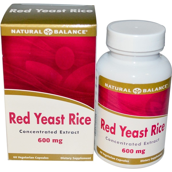 Natural Balance, Red Yeast Rice, 600 mg, 60 Veggie Caps (Discontinued Item)