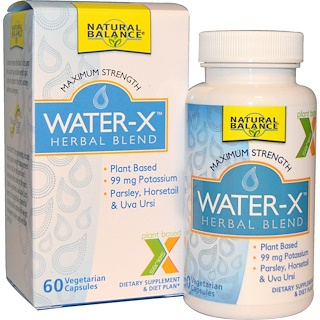 Natural Balance, Water-X, Herbal Blend, 60 Veggie Caps