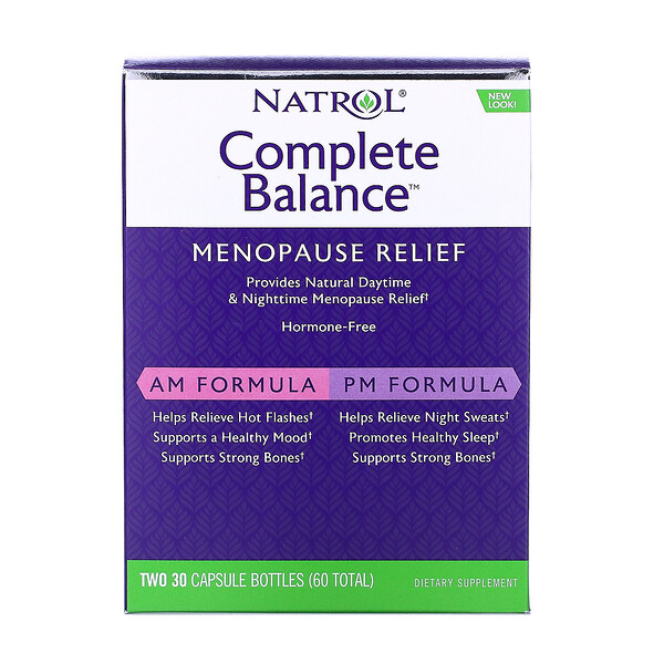 Complete Balance, Menopause Relief, AM/PM, Two Bottles 30 Capsules Each