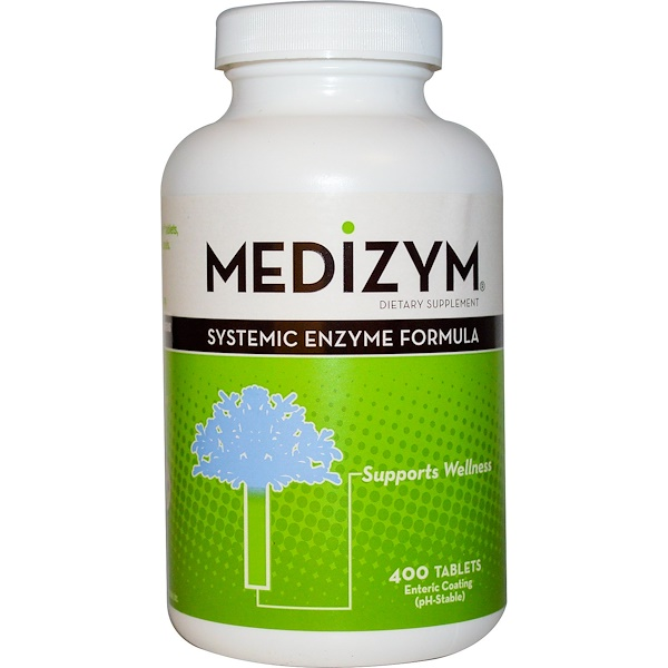 Naturally Vitamins, Medizym, Systemic Enzyme Formula, 400 Tablets (Discontinued Item)