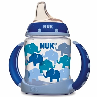 NUK, Transition Cup, Learner Cup, 6+ Months, Blue, 1 Cup, 5 oz (150 ml)