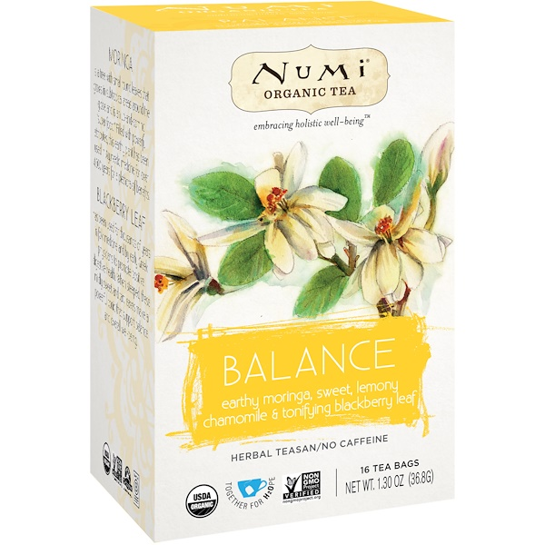 Numi Tea, Organic Tea, Herbal Tea, Balance, 16 Tea Bags, 1.30 oz (36.8 g)