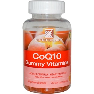 Nutrition Now, CoQ10 Gummy Vitamins, Peach Flavor, 200 mg, 60 Gummy Vitamins