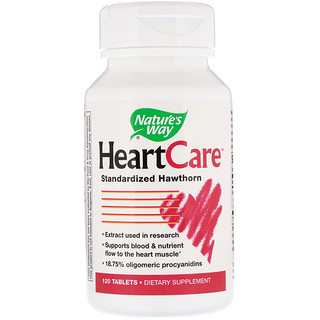 Nature's Way, HeartCare,山楂提取物,120片
