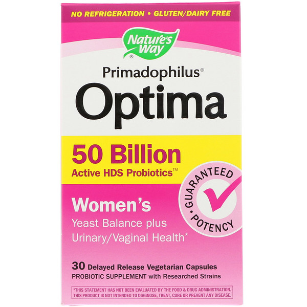 Nature's Way, Primadophilus Optima, Women's, 30 Delayed Release Vegetarian Capsules