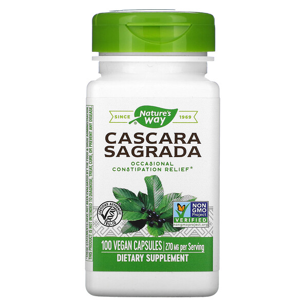 Cascara Sagrada, 270 mg, 100 Vegan Capsules