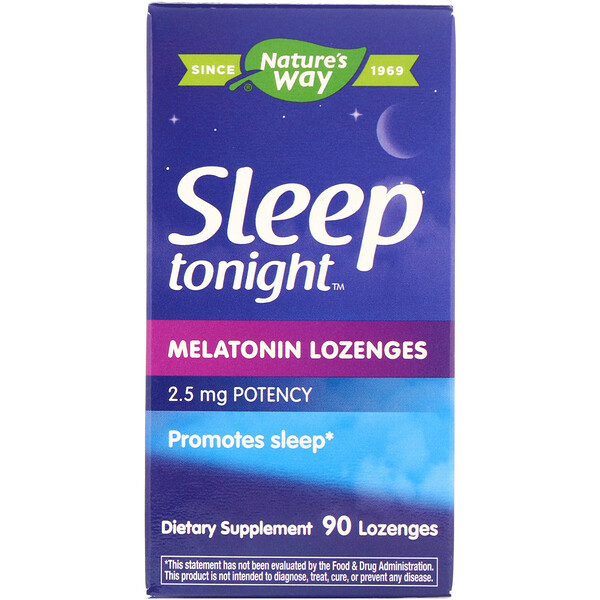Nature's Way, Sleep tonight Melatonin Lozenges, 2.5 mg, 90 Lozenges