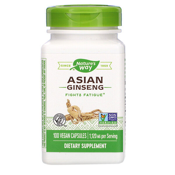 Asian Ginseng, 1,120 mg, 100 Vegan Capsules