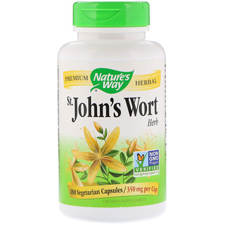 Nature's Way, St. John's Wort Herb, 350 mg, 180 Vegetarian Capsules
