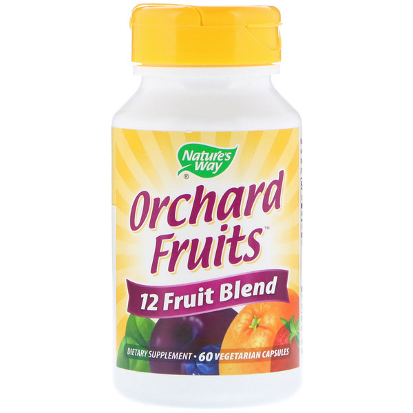 Nature's Way, Orchard Fruits, 12 Fruit Blend, 60 Vegetarian Capsules